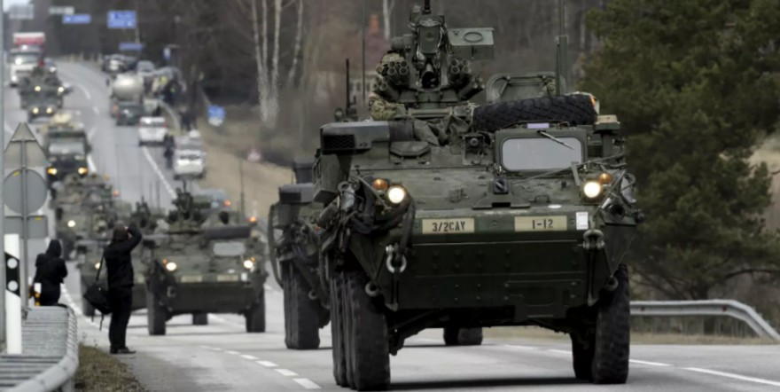 US Army soldiers deployed in Estonia (Reuters / Ints Kalnins)